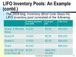 lifo inventory pools an example contd