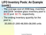 lifo inventory pools an example contd1