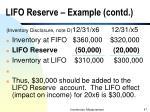 lifo reserve example contd