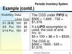 periodic inventory system example contd
