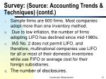 survey source accounting trends techniques contd