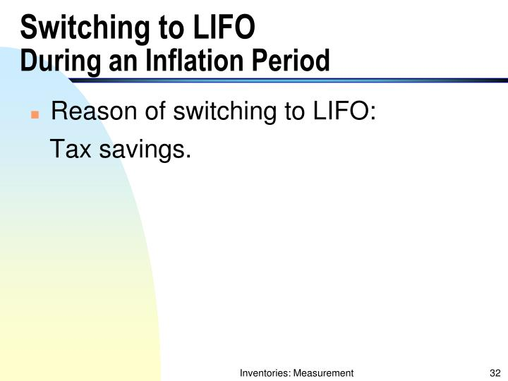 Switching to LIFO