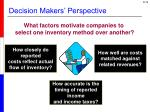 decision makers perspective