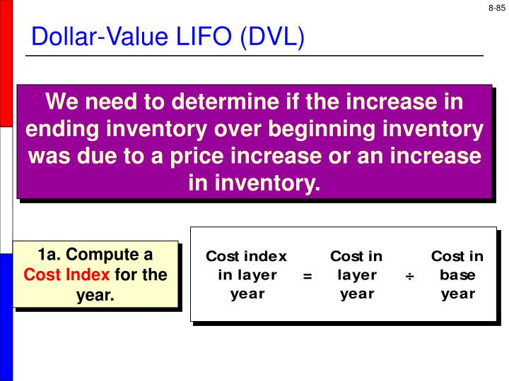 Dollar-Value LIFO (DVL)