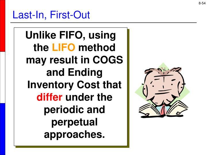 Unlike FIFO, using the