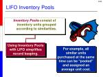 lifo inventory pools