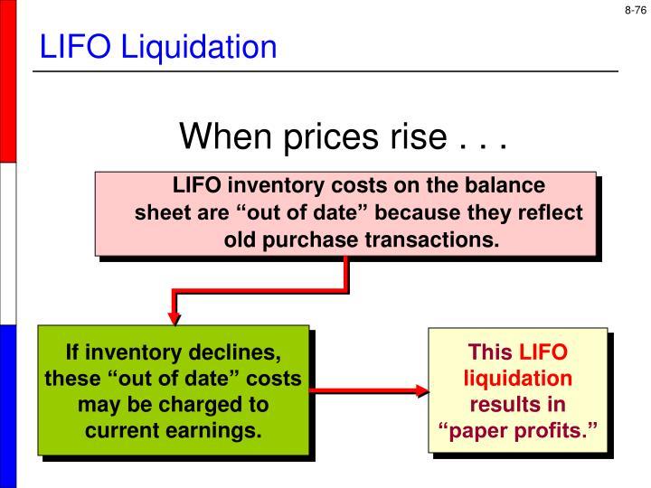 LIFO Liquidation