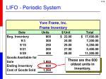 lifo periodic system1