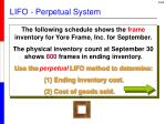 lifo perpetual system