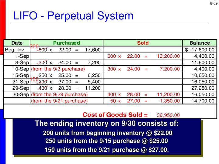 LIFO - Perpetual System