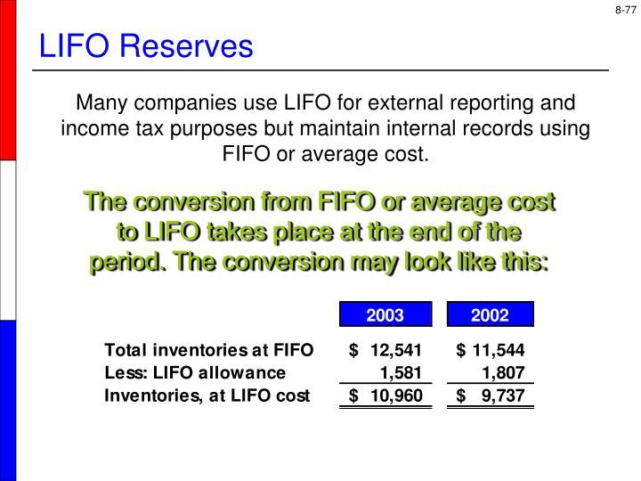 LIFO Reserves