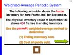 weighted average periodic system
