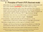 2 principles of french fcp discinnet model