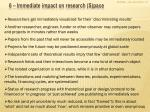 6 immediate impact on research s pace