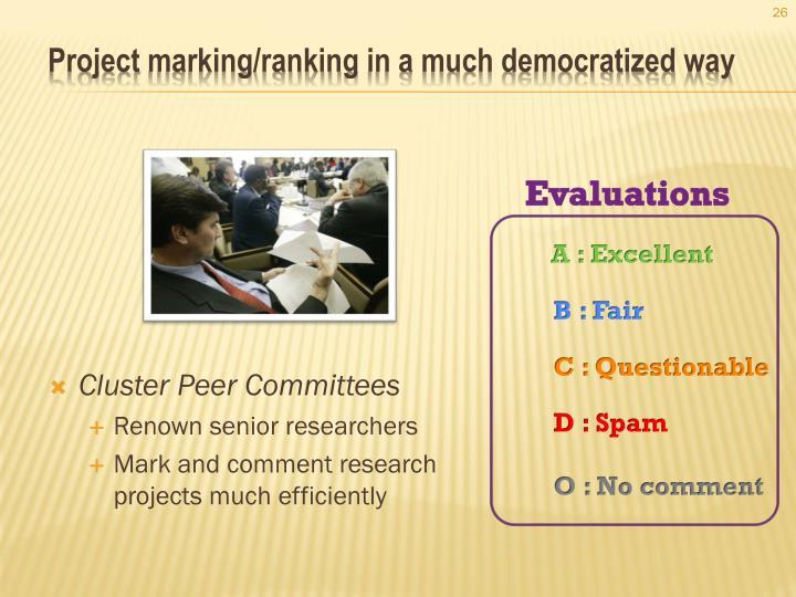 Cluster Peer Committees