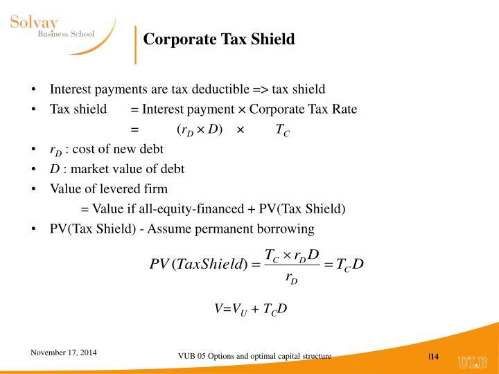 Corporate Tax Shield