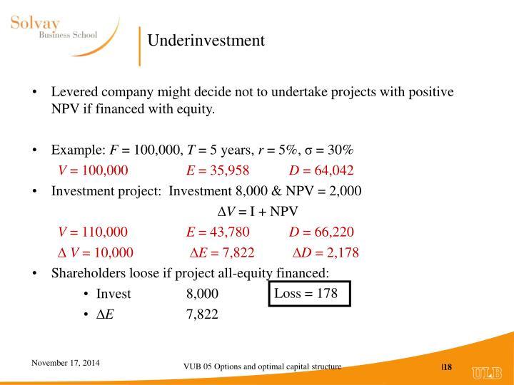 Underinvestment