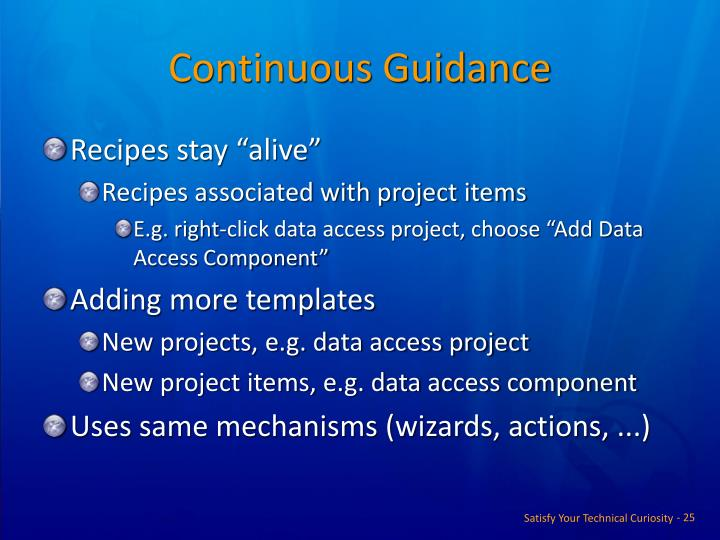 Continuous Guidance