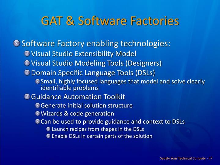 GAT & Software Factories