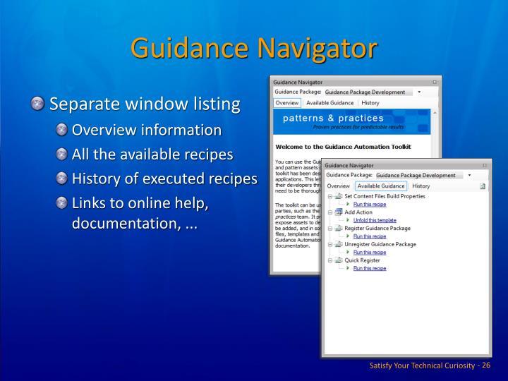 Guidance Navigator