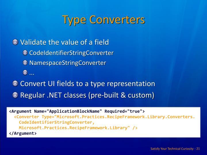 Type Converters