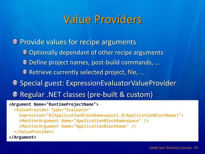 Value Providers