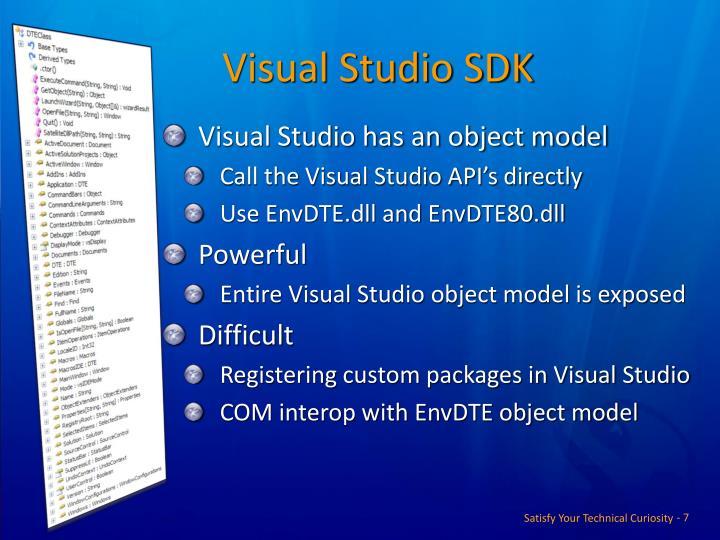 Visual Studio SDK