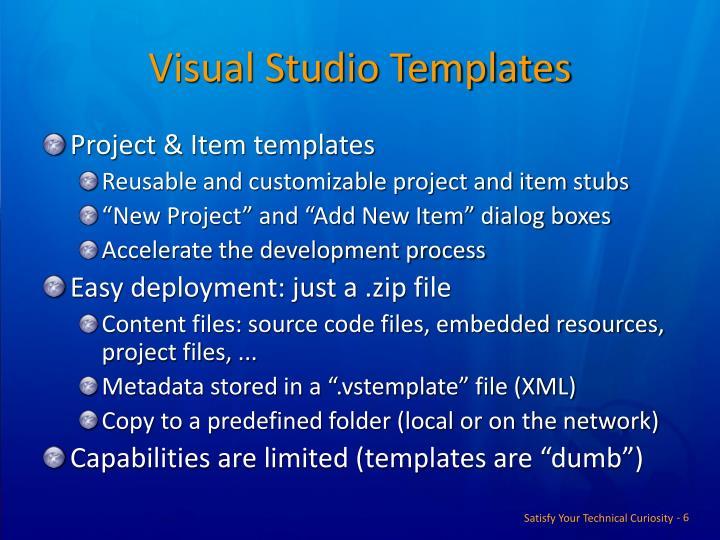 Visual Studio Templates