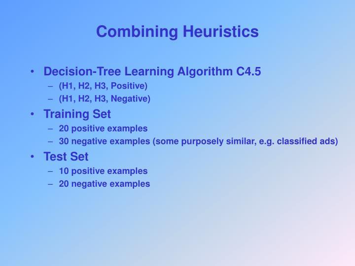 Combining Heuristics