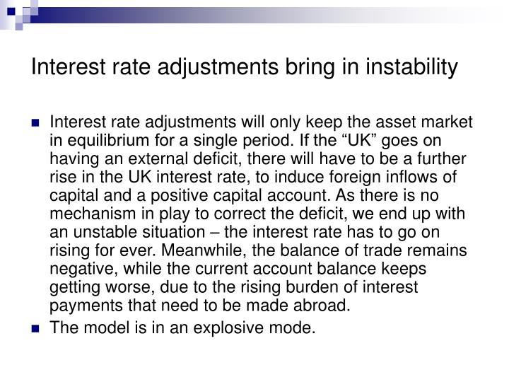 Interest rate adjustments bring in instability