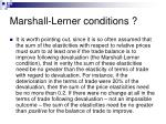marshall lerner conditions