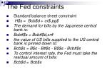 the fed constraints