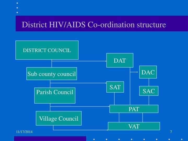 District HIV/AIDS Co-ordination structure