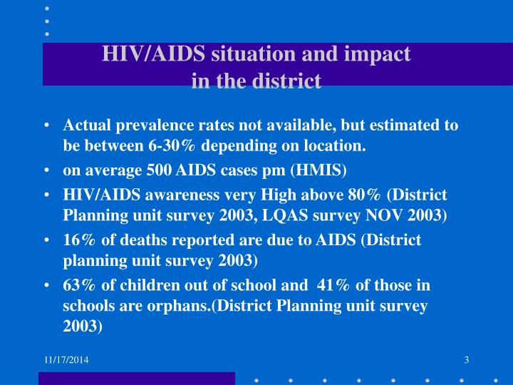 HIV/AIDS situation and impact