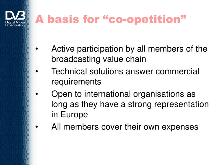 """A basis for """"co-opetition"""""""