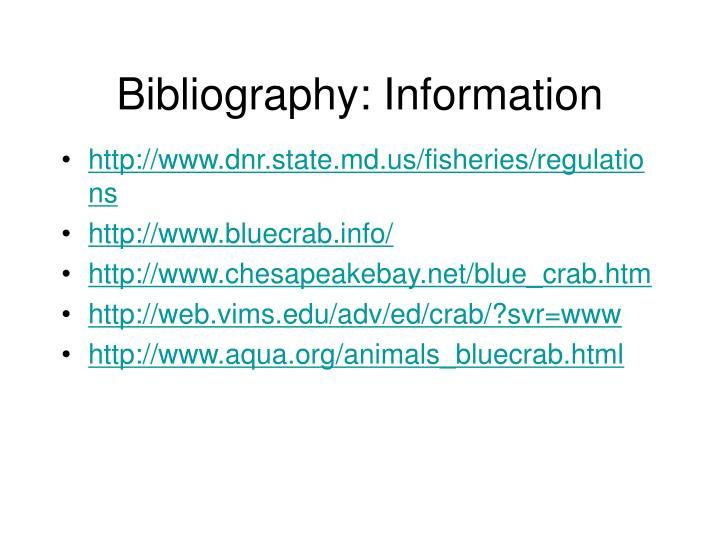 Bibliography: Information