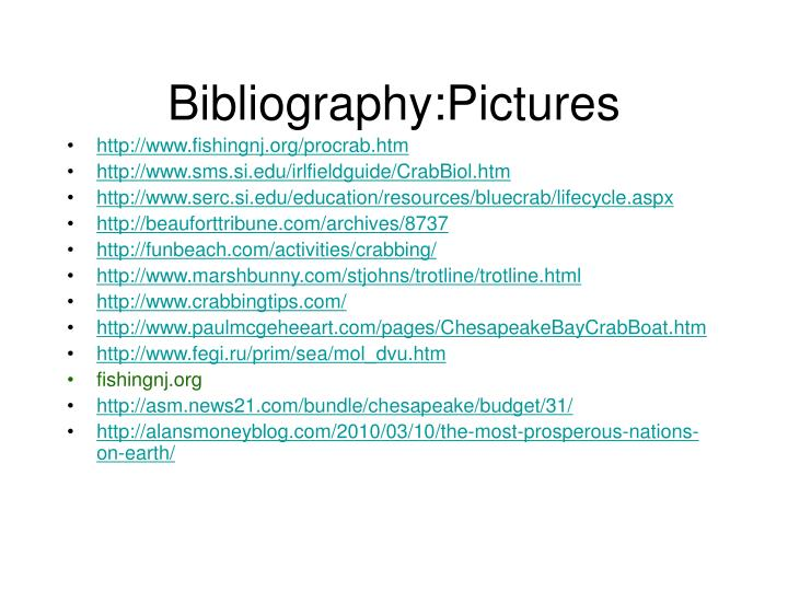 Bibliography:Pictures