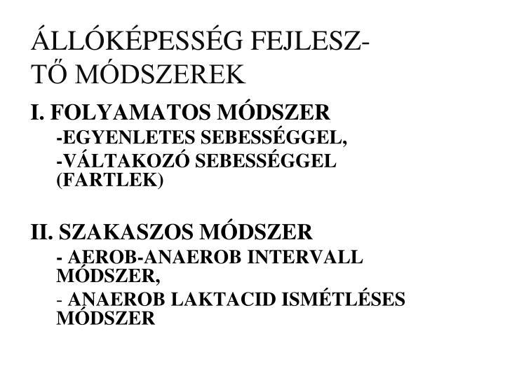 ÁLLÓKÉPESSÉG FEJLESZ-