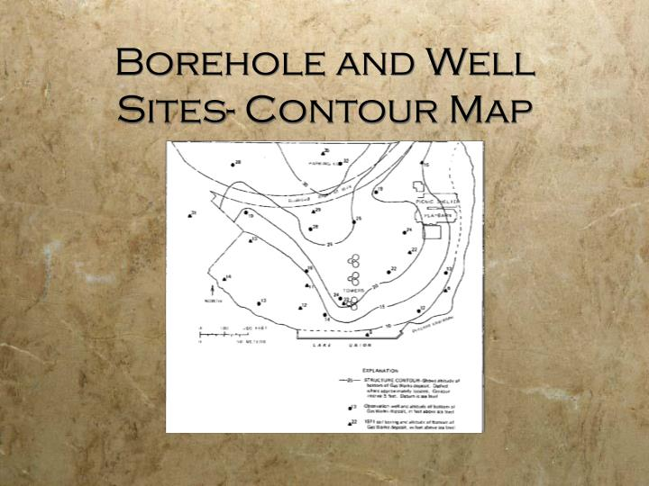 Borehole and Well Sites- Contour Map