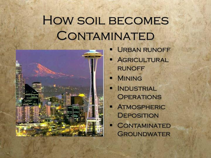 How soil becomes contaminated