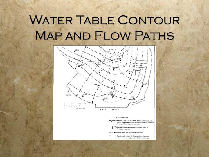 Water Table Contour Map and Flow Paths