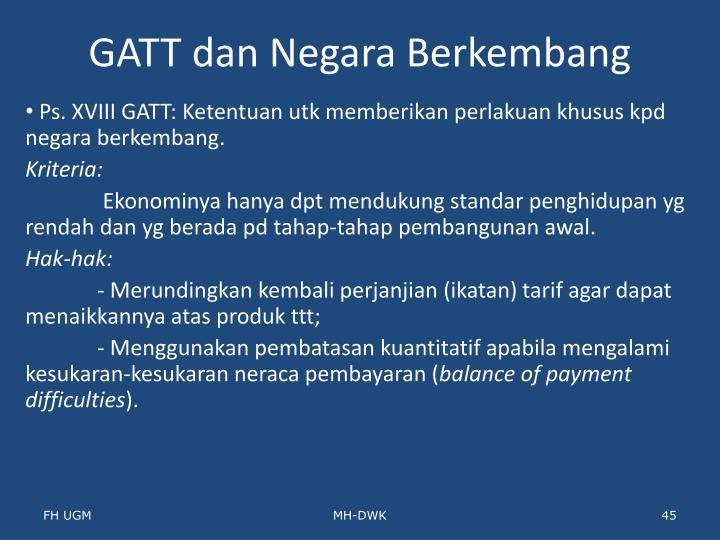 GATT dan Negara Berkembang