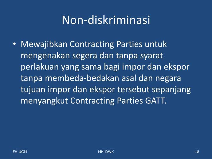 Non-diskriminasi