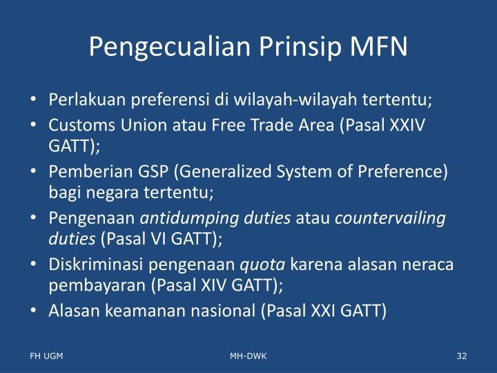 Pengecualian Prinsip MFN