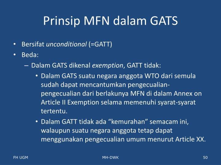 Prinsip MFN dalam GATS