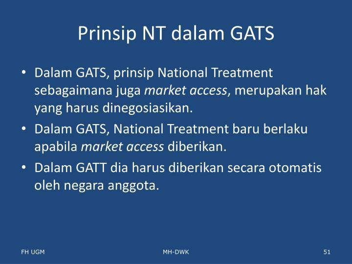 Prinsip NT dalam GATS