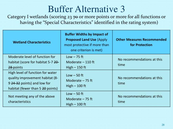 Buffer Alternative 3