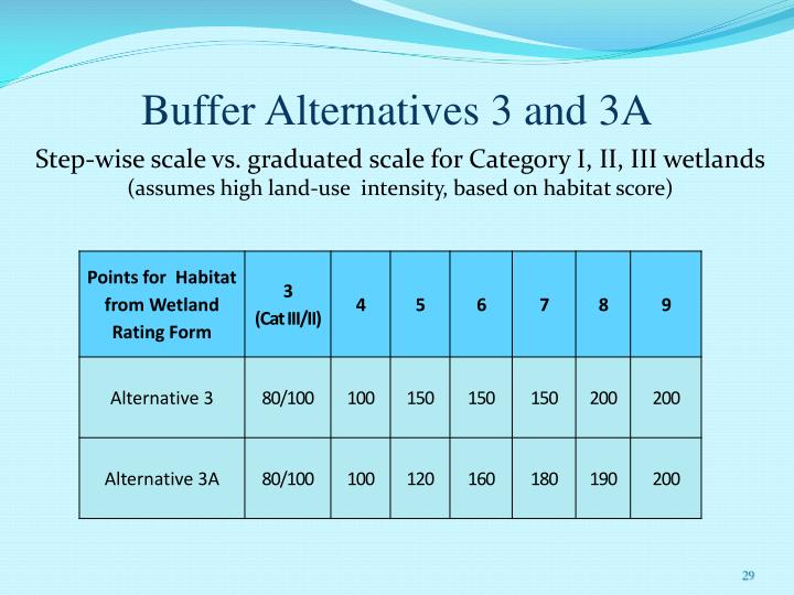 Buffer Alternatives 3 and 3A