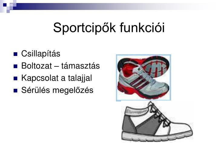 Sportcipők funkciói