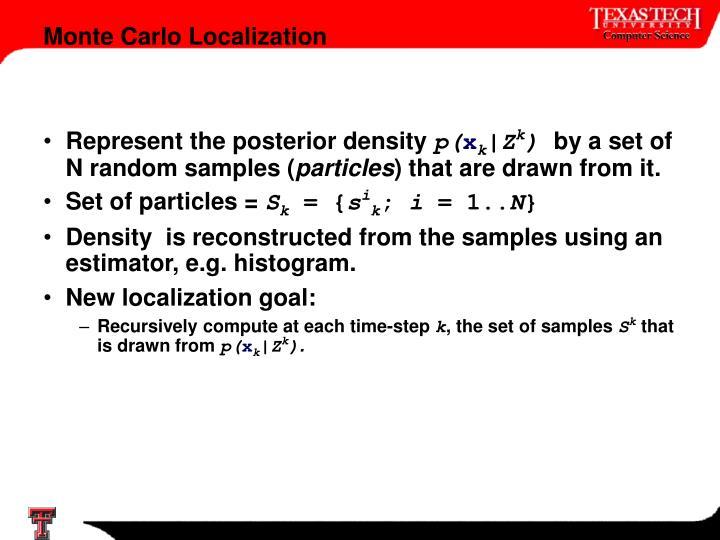 Represent the posterior density